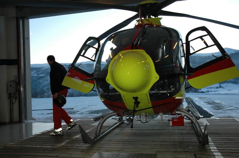 Legehelikopteret på Dombås. Foto: Live Oftedahl