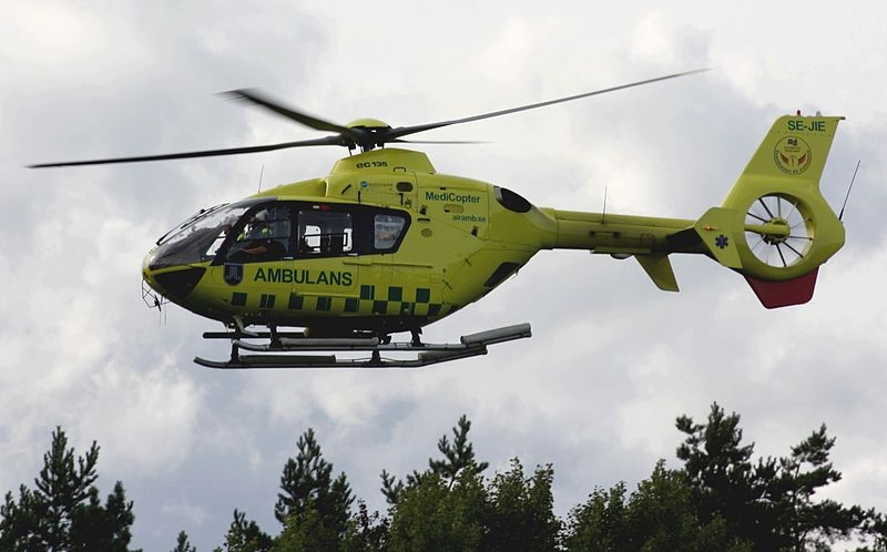 Legehelikopter på øvelse. Foto: Live Oftedahl