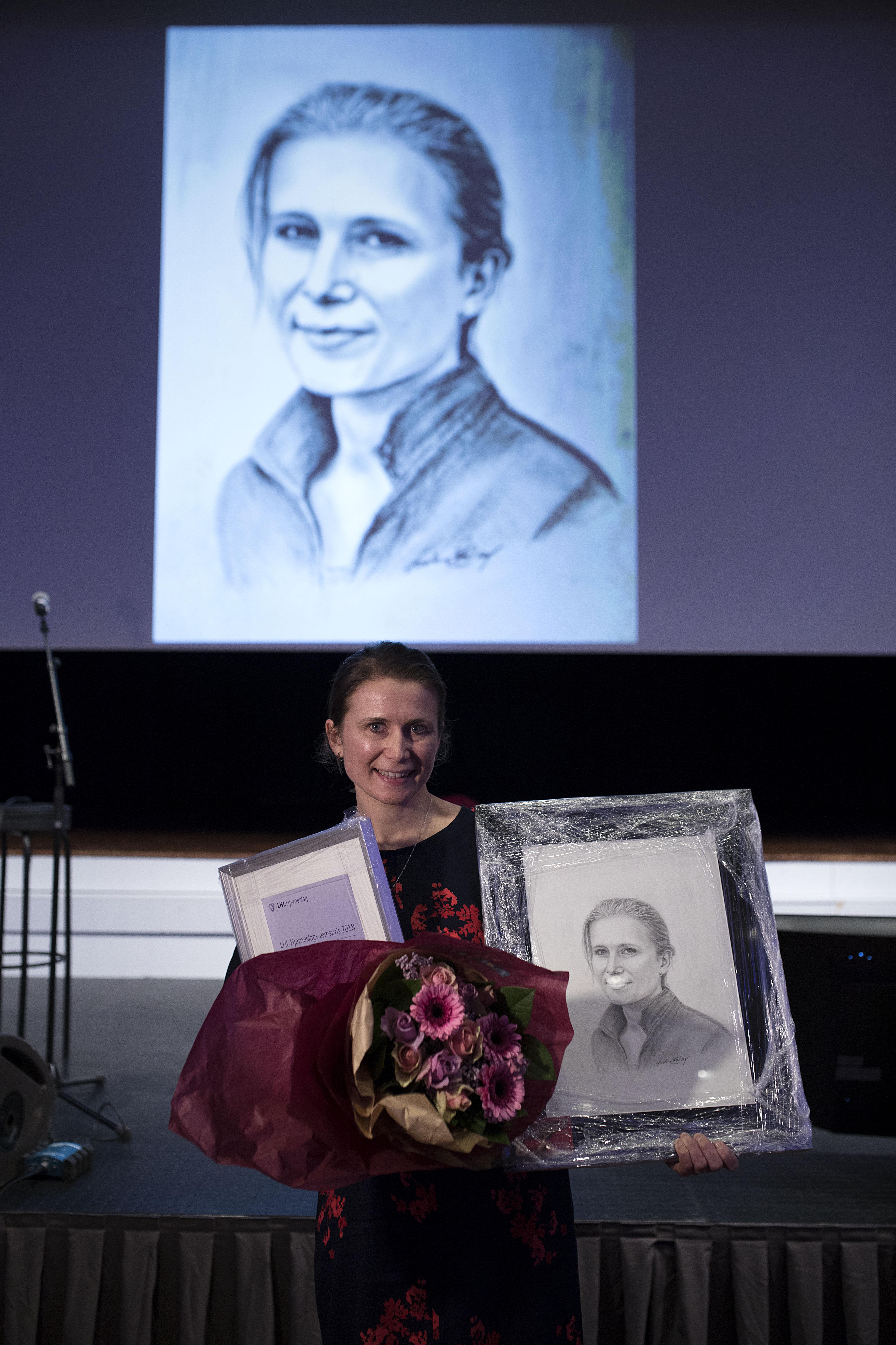 Oslo, Norge, 15.02.2018. LHL hjerneslag tildeler Maren Ranhoff Hov æresprisen. Foto: Christopher Olssøn.