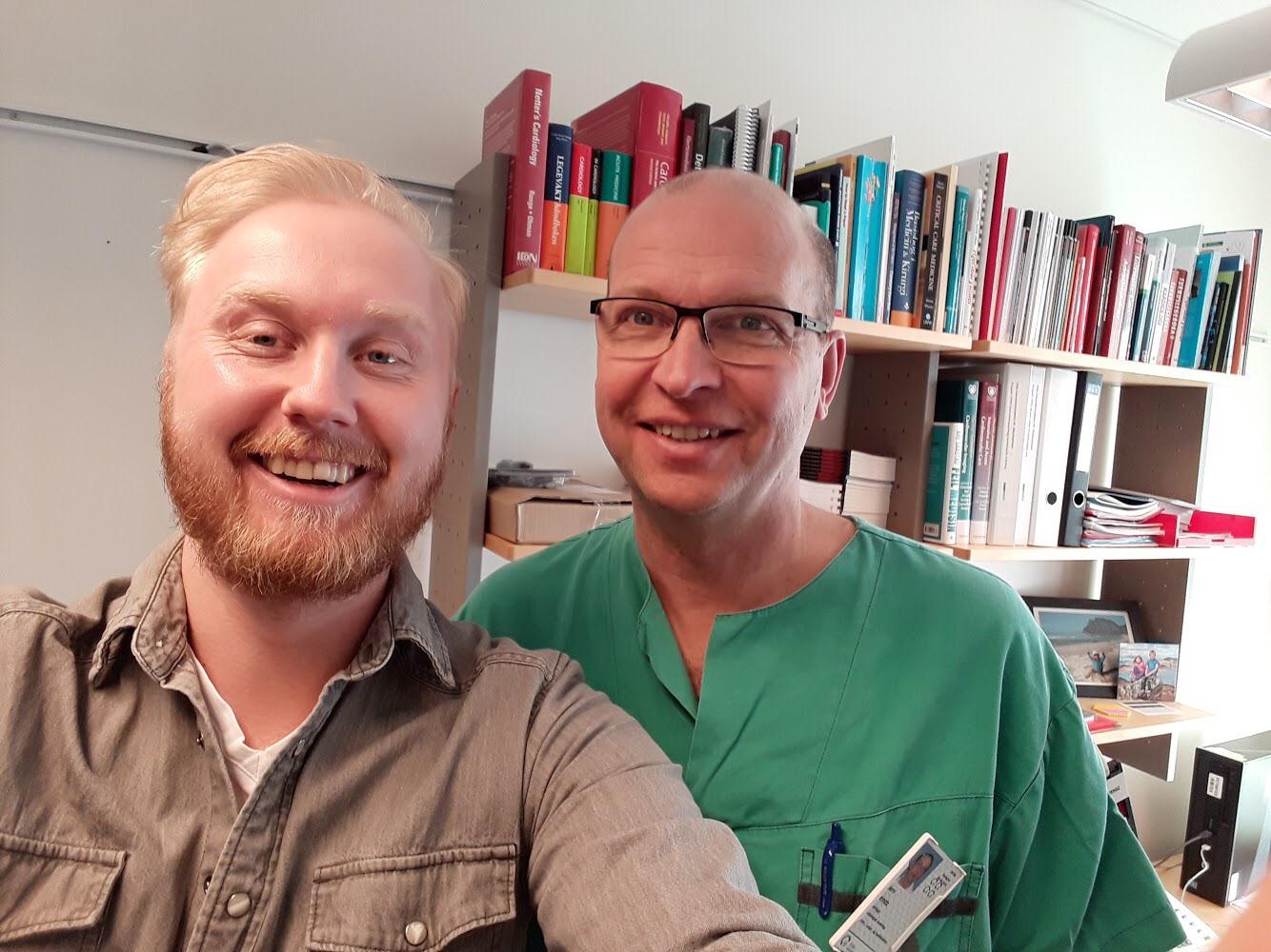 Ole Kristian Andreassen og Bjørn Bendz. Foto: Du puster for fort