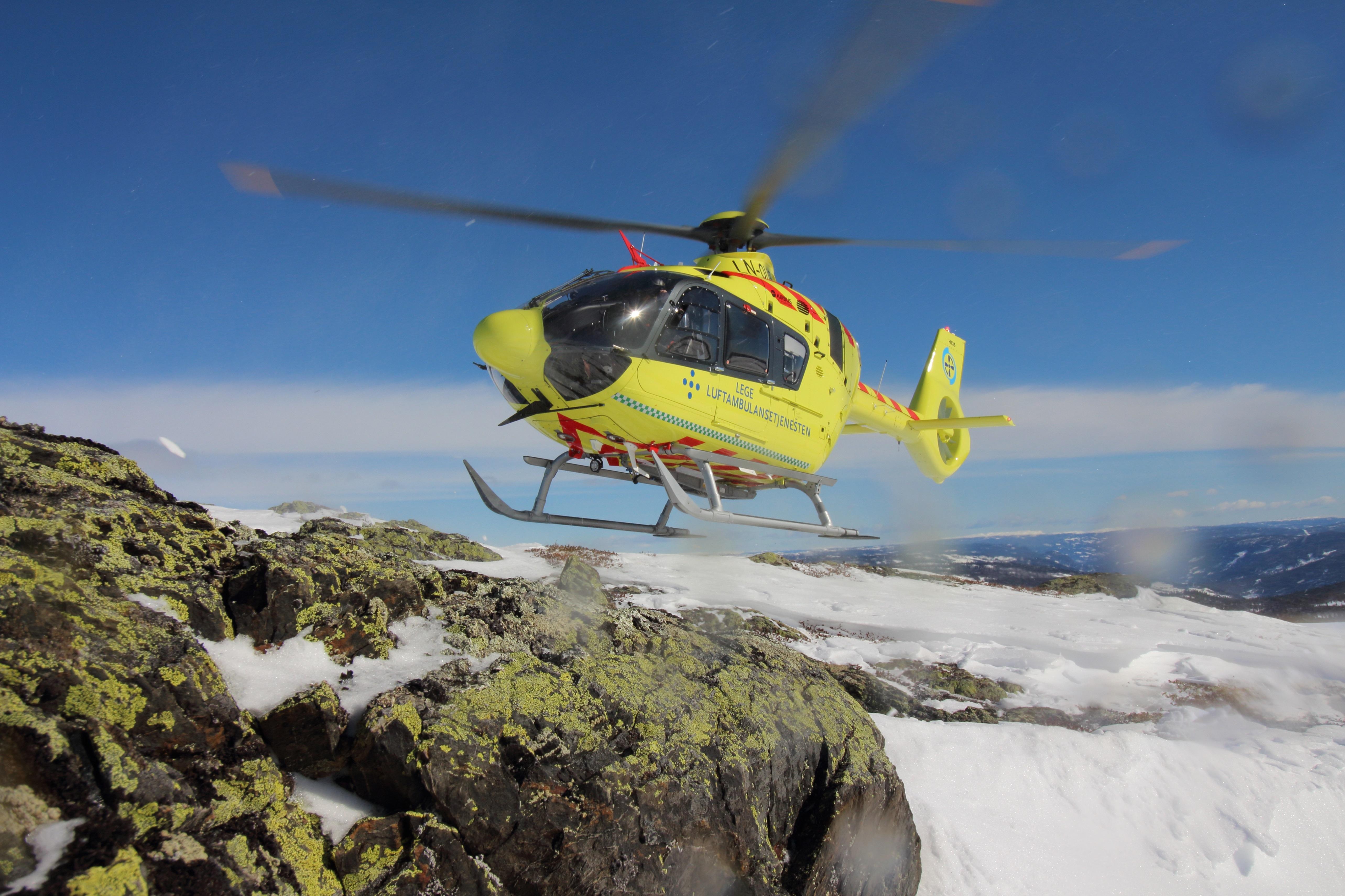 Norsk Luftambulanses nye ambulansehelikopter. Illustrasjonsfoto: Luftambulansetjenesten HF