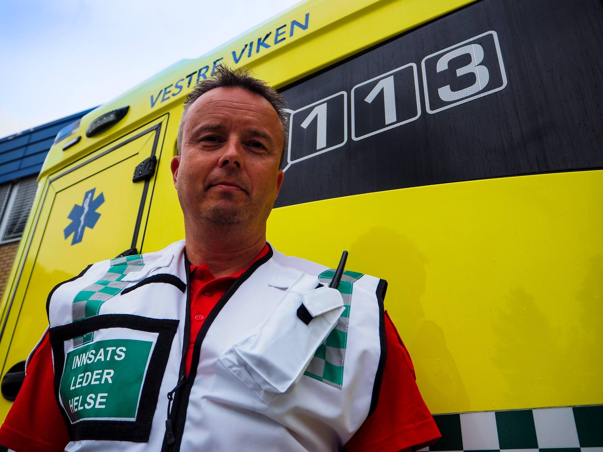 Håvard Larsen, paramedic i Vestre Viken. Foto: Ole Kristian Andreassen