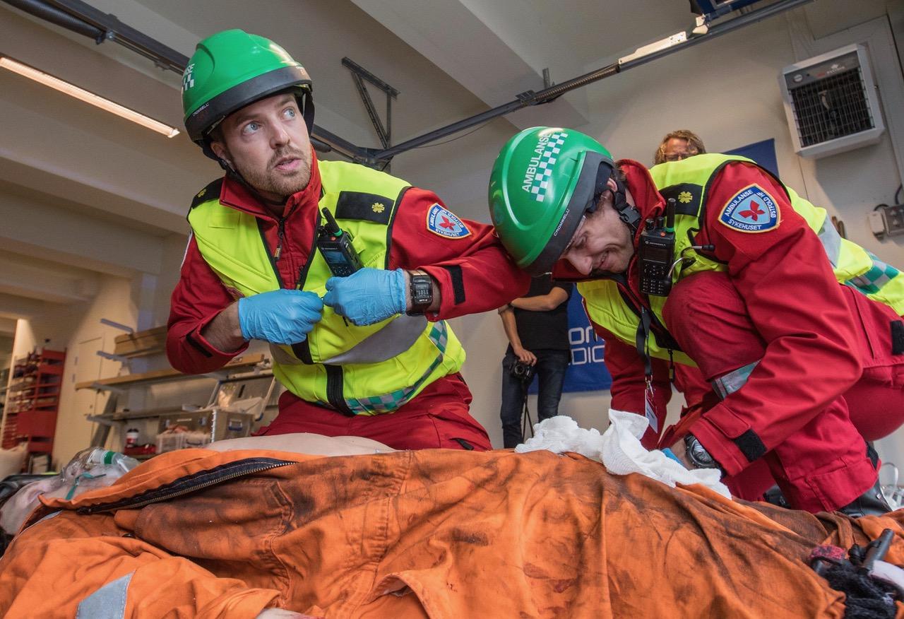 Sykehuset Østfold i aksjon på EMS Norway ambulansemesterskap. © Fredrik Naumann/Felix Features