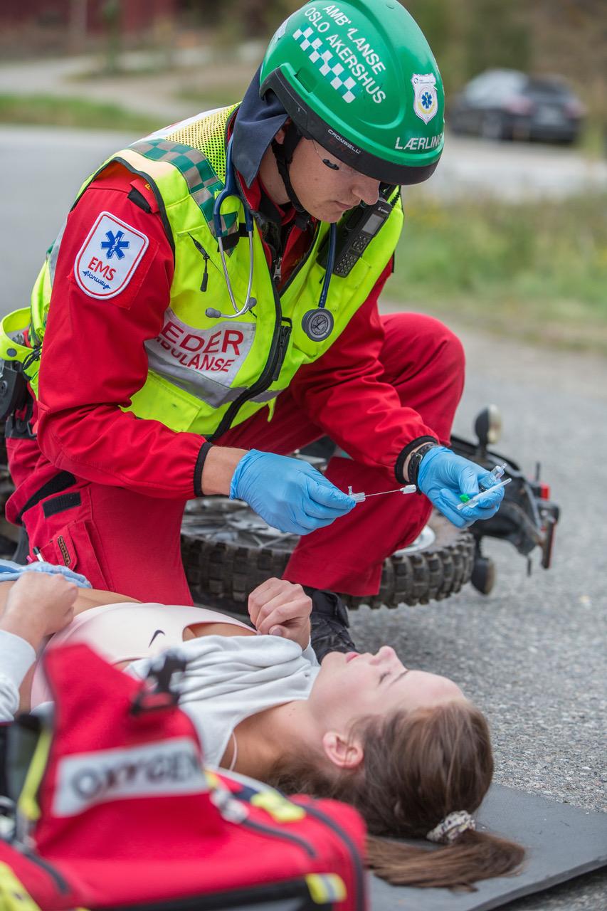Traumecase på nasjonalt ambulansemesterskap 2018 arrangert av EMS