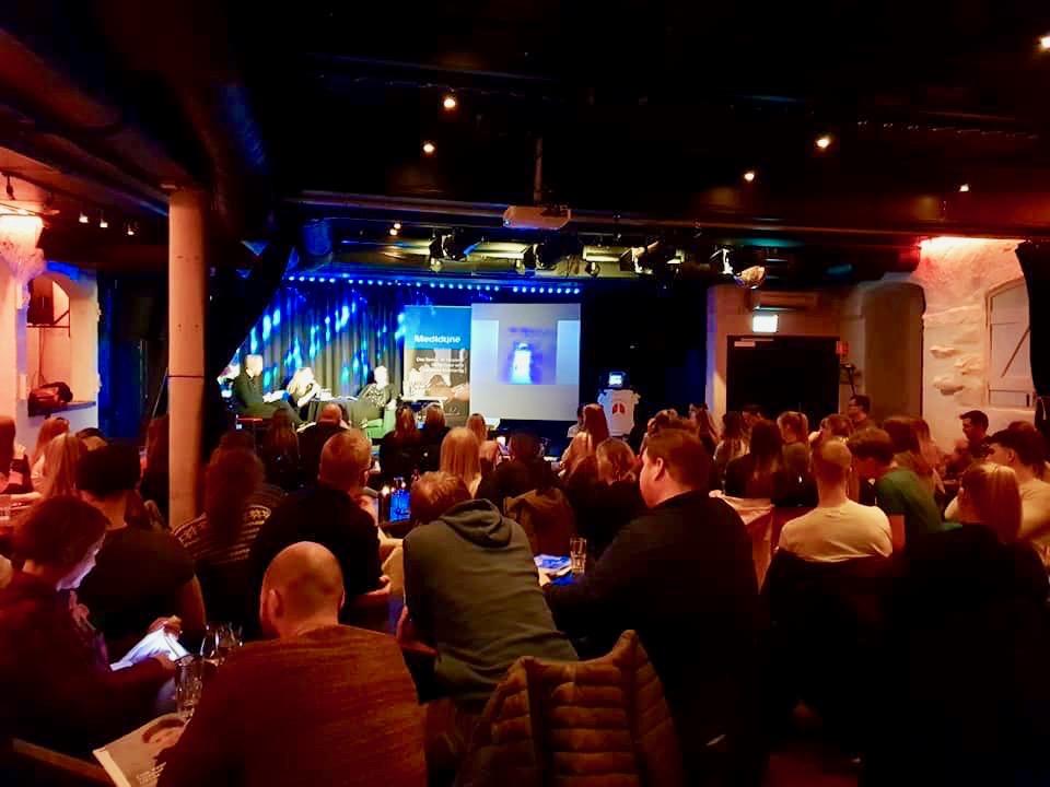 Livepodkast på Prelaten Kro og Scene i Tromsø i slutten av februar 2019.