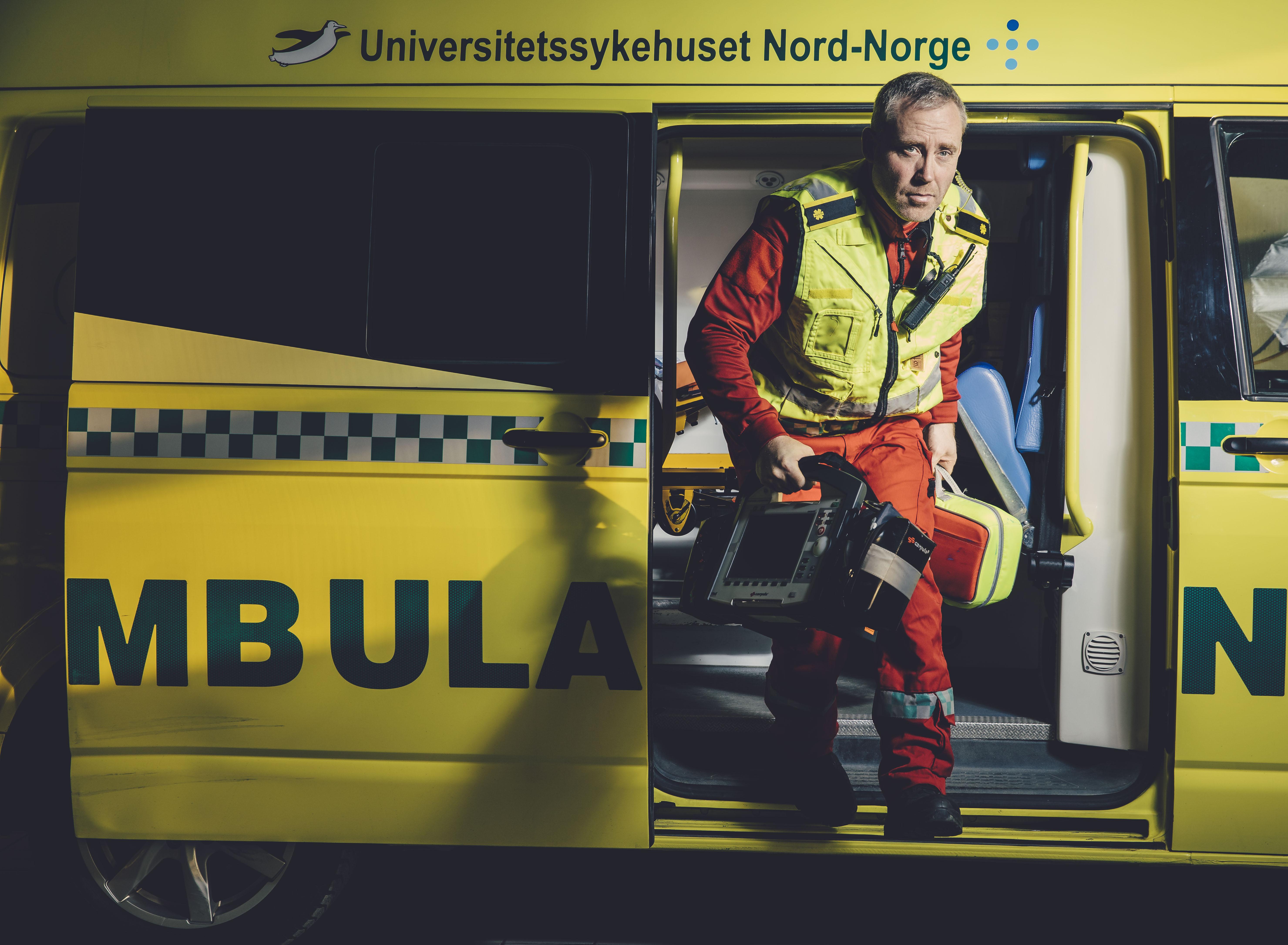 Charles Aune-Lundberg på NRK-serien 113. Foto: Marius Fiskum