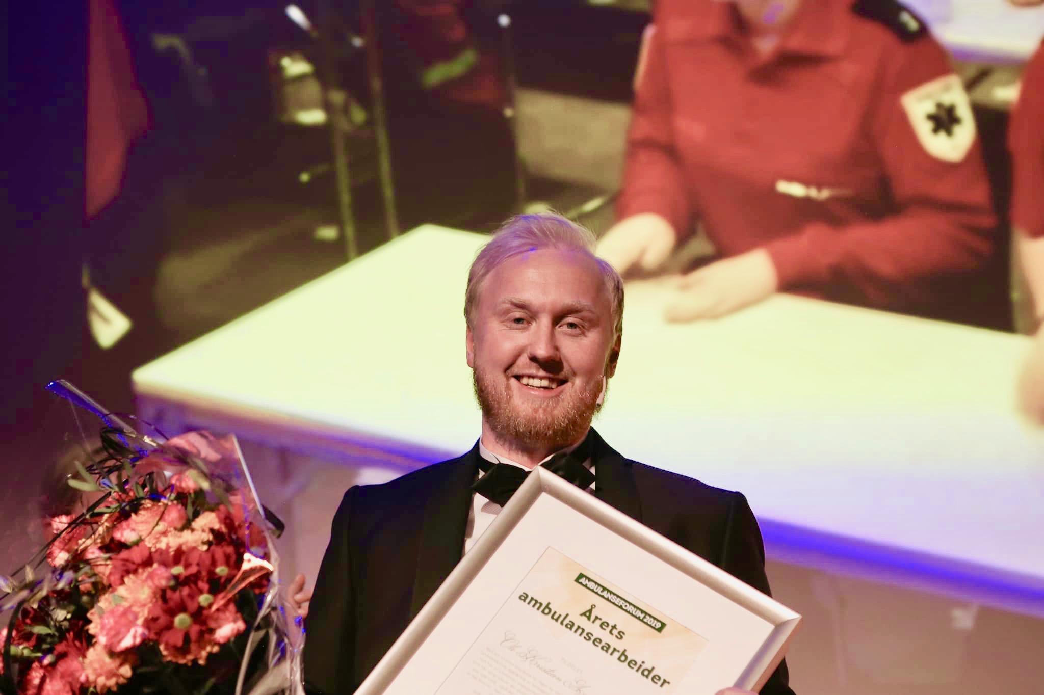 Årets ambulansearbeider 2019 er Ole Kristian Andreassen. Foto: Tor Aage Hansen