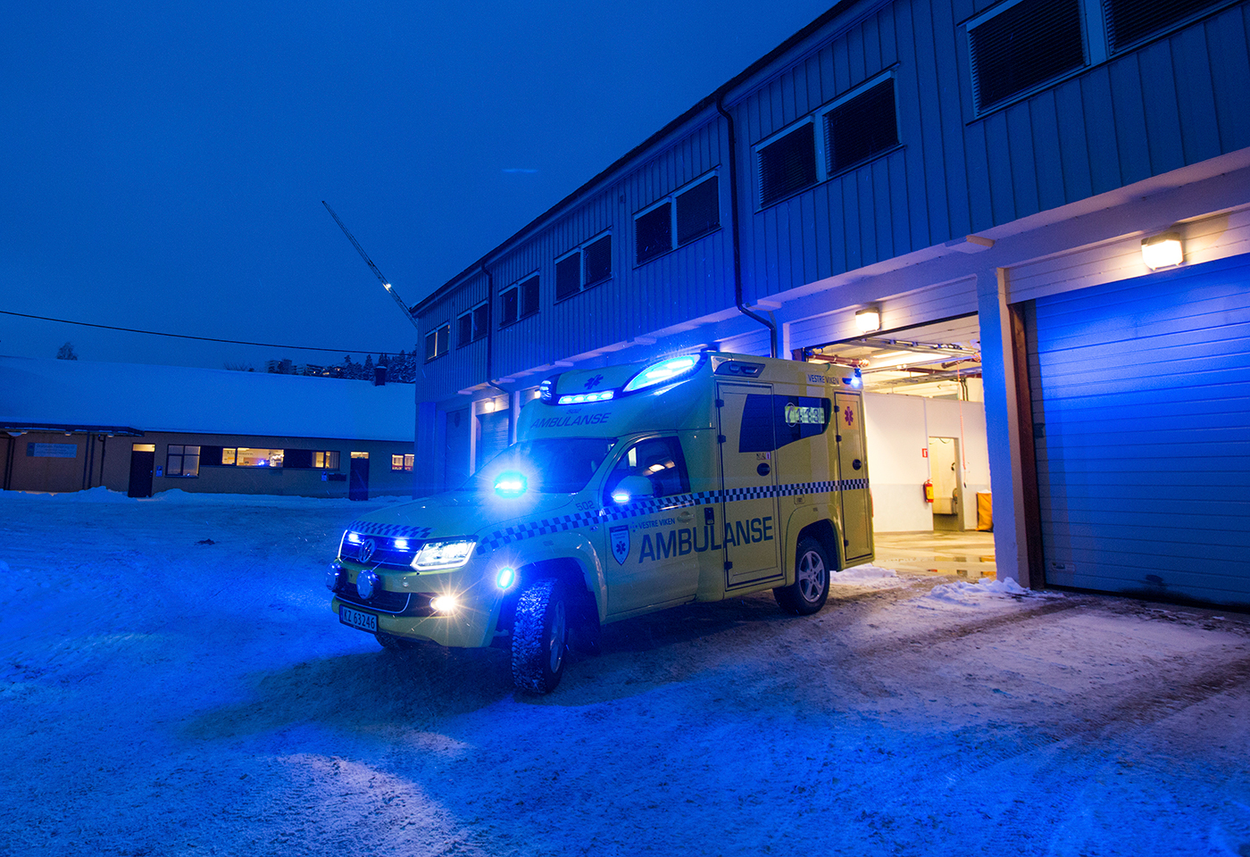 Ambulanse i Vestre Viken. Foto: Fredrik Naumann/Felix Features