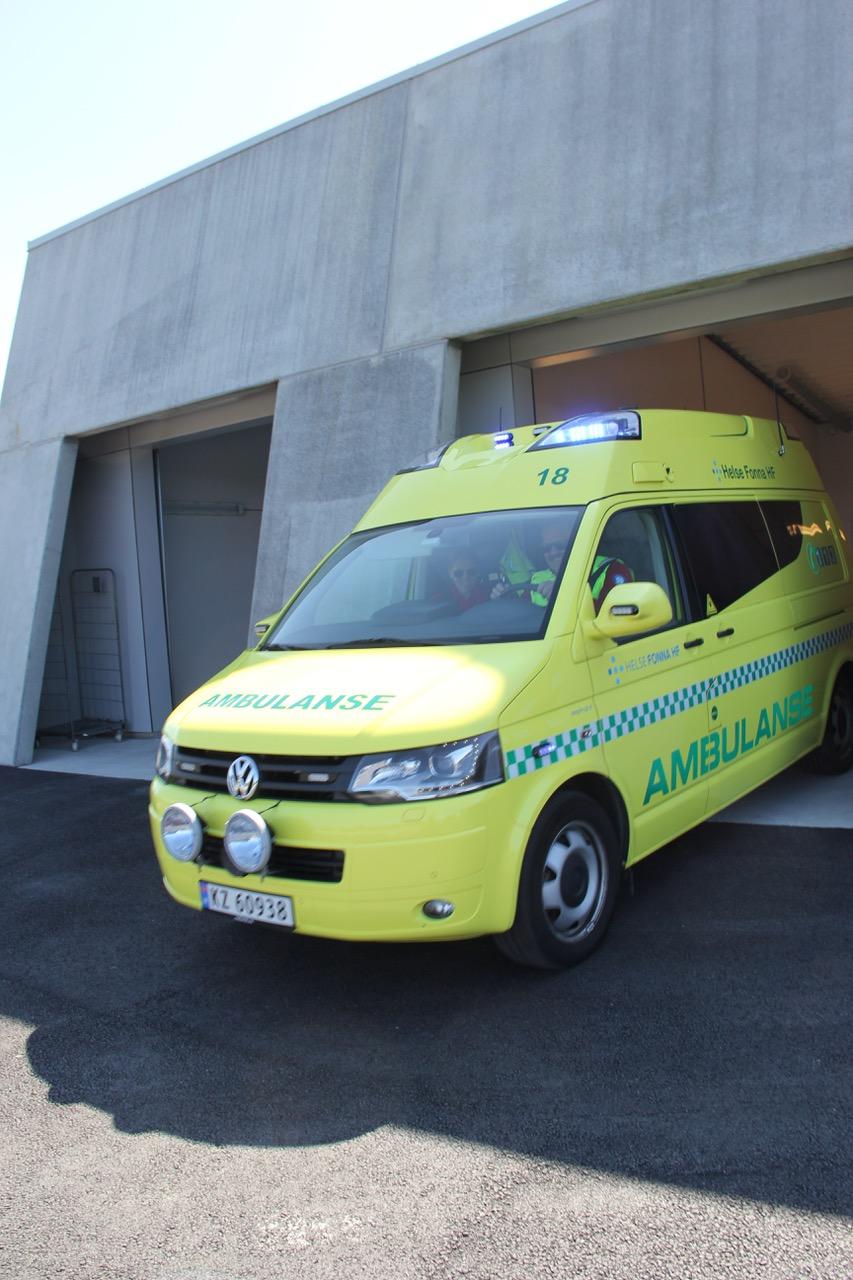 Ambulansestasjonen på Bømlo. Foto: Live Oftedahl
