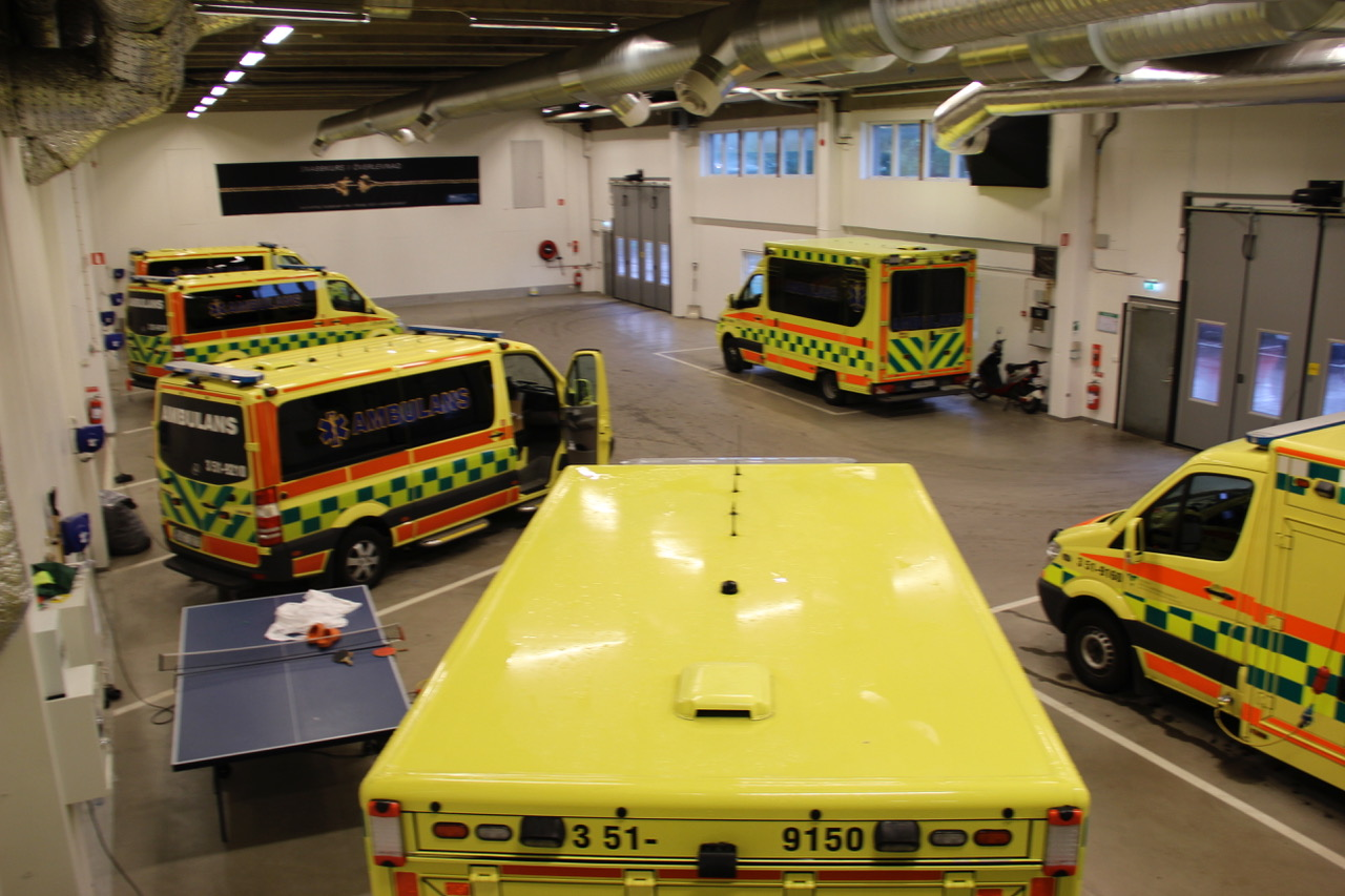Ambulansehall i Gøteborg