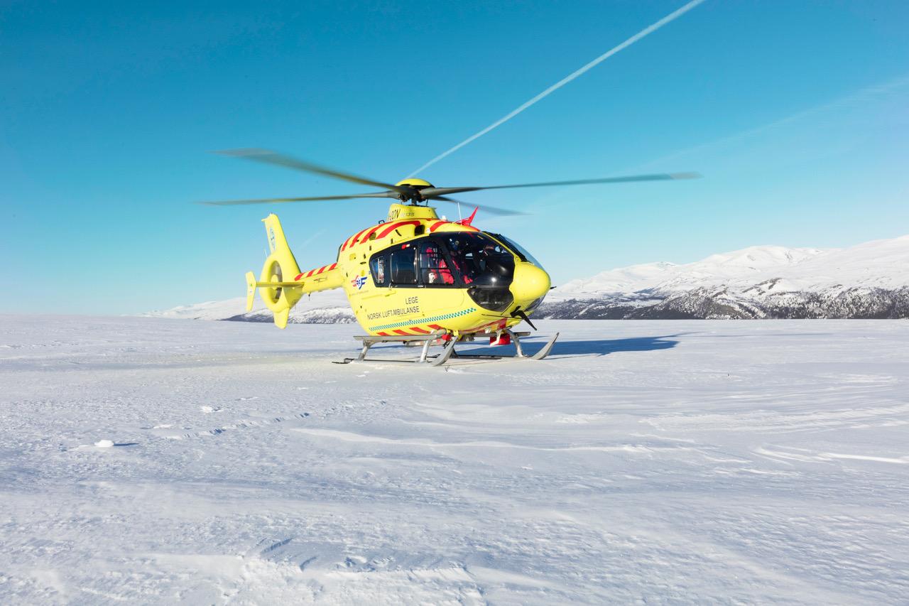 Legehelikopter på Dombås.