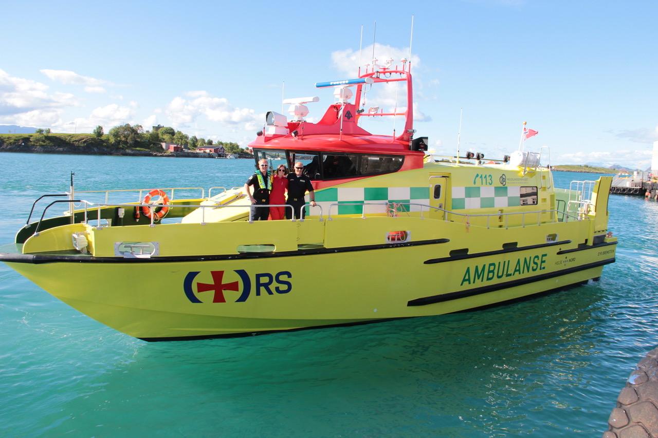 Ambulansebåten Eyr på Helgeland.