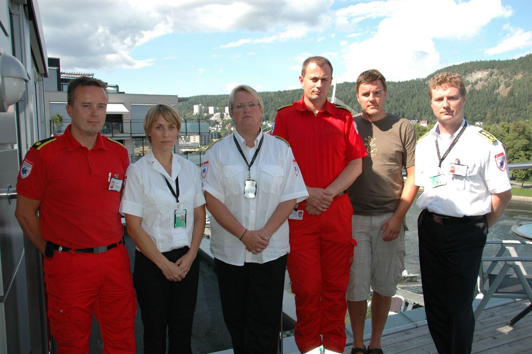 Håvard Larsen (helt til venstre) fikk prisen Årets Paramedic i 2011, blant annet på grunn av innsatsen ved massedrapene på Utøya. Minner fra en forelesning hjalp ham å prioritere riktig