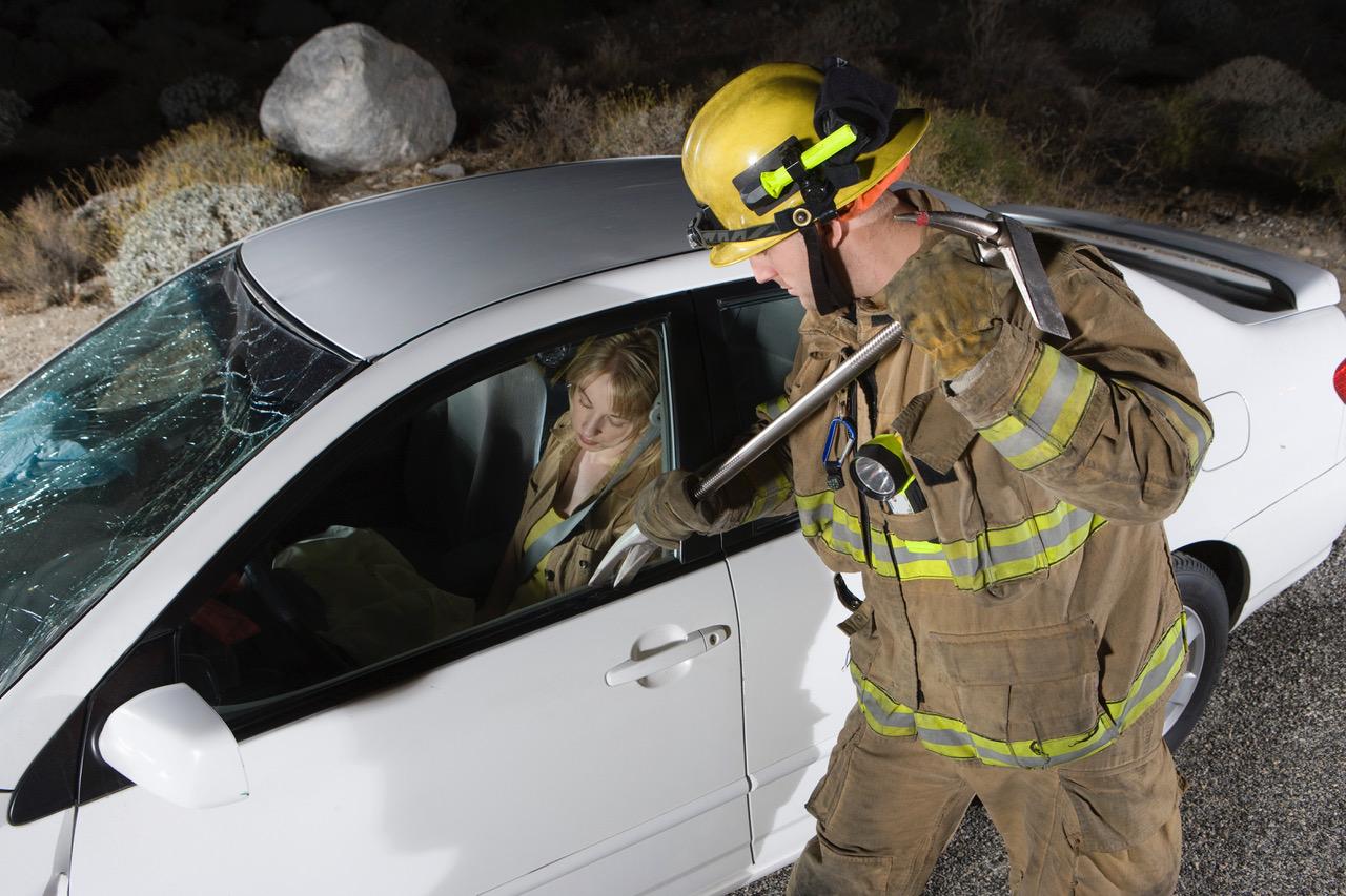 Brann på trafikkulykke. Illustrasjonsfoto: Thinkstock