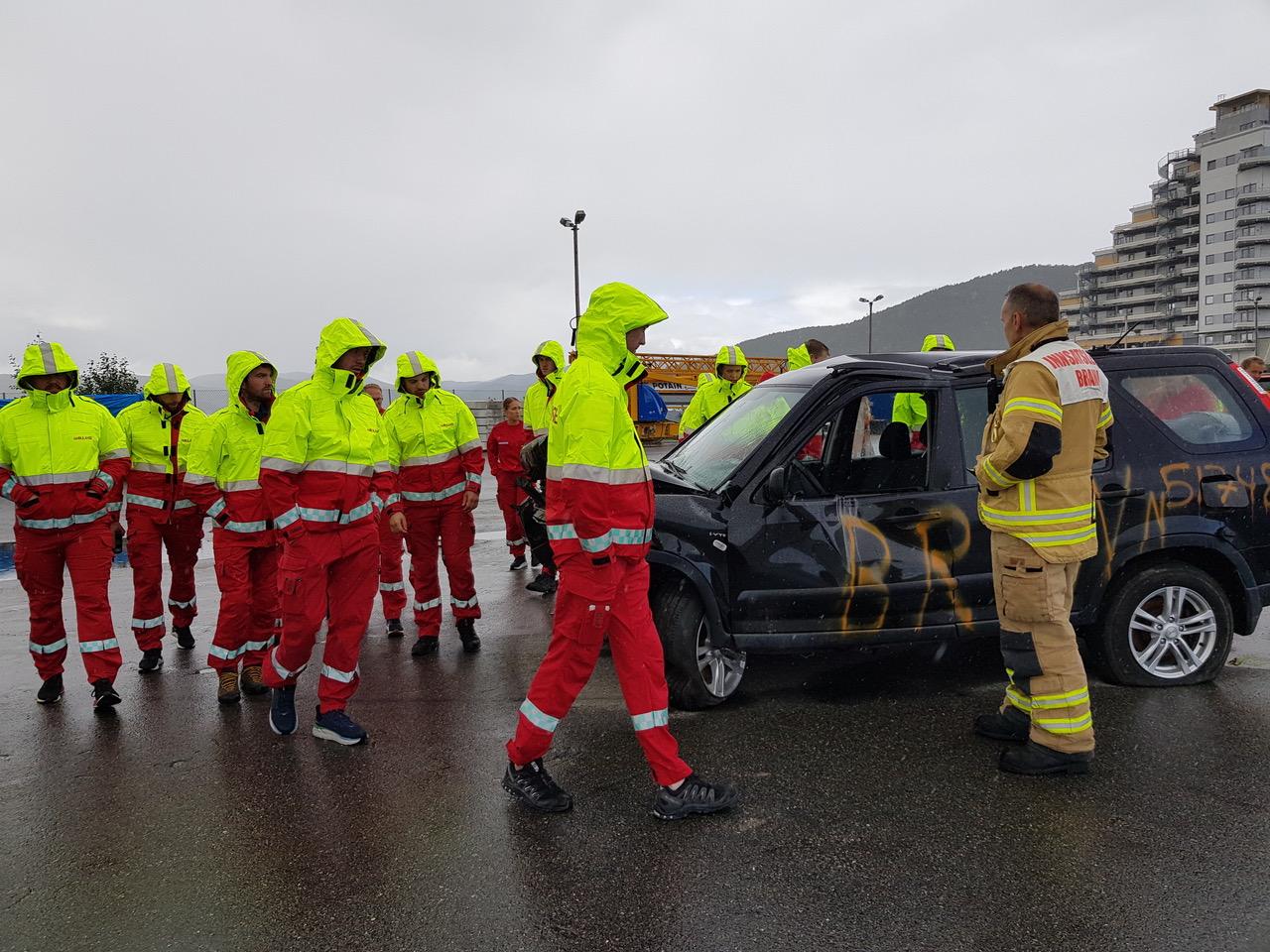 Øvelse på Nord universitet avdeling Namsos. Foto: Nord universitet