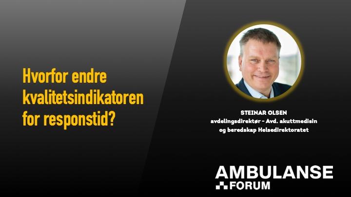 Steinar Olsen på webinar om responstid.